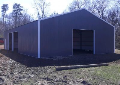40x60 Fully Enclosed 3 Garage